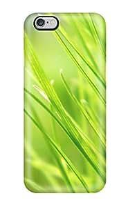 New Premium Flip Case Cover Fresh Grass Skin Case For Iphone 6 Plus
