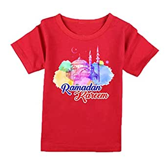 FMstyles - Ramadan Kareem Design Kids Red Tshirt - FMS239
