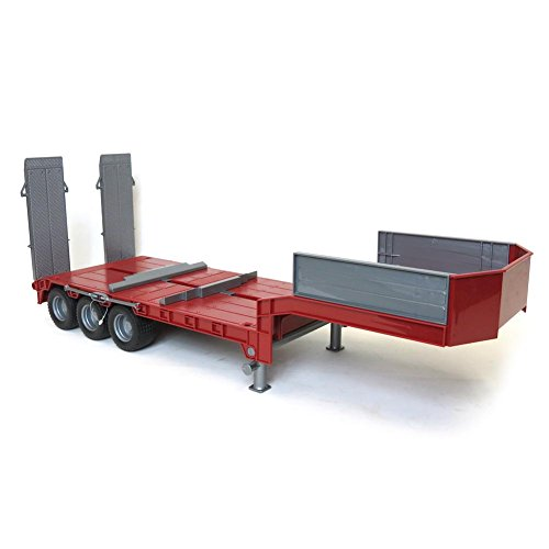 1/16 Red Tri-axle Low Loader Trailer w/ ()