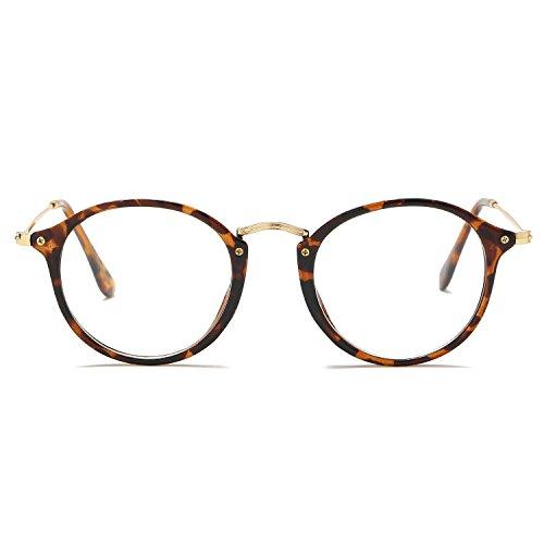 Amomoma Vintage Round Non-Prescription Eyewear Glasses Frame for Women AM5025 C3 - Eyeglasses 2 Sale 1 For