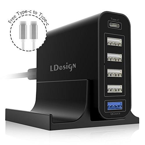 USB Charging Station, LDesign 60W 12A 6-Port Po...