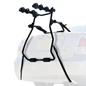 Kova Gear Trunk Mounted Bike Rack w/ 3 Spaces - Universal Fit for Cars, SUVs & Minivans