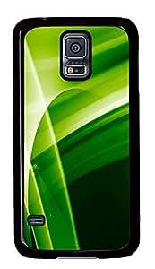 Samsung Galaxy S5 Green Abstract N005 PC Custom Samsung Galaxy S5 Case Cover Black