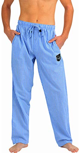 (Ecko Unltd. - Mens Cotton Woven Stripe Sleep Lounge Pant, Blue, White 40736-Large)