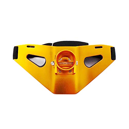 Eupheng Professional Fishermen Metal Gimbal Pad Adjustable Fighting Fishing Waist Belt Rod Pole Holder (J3, Golden Orange) ()