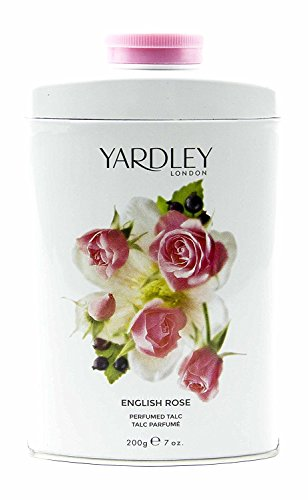 (Yardley of London English Rose Perfumed Talc, 7 Oz, Made in England - NEW FORMULA )