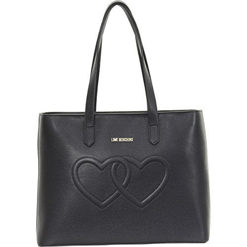 Love Moschino Embossed Heart Leather Shoulder Bag