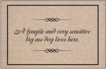 Fragile And Sensitive Dog Indoor/Outdoor Doormat