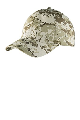 - Port Authority Digital Ripstop Camouflage Cap C925 Sand Camo One Size