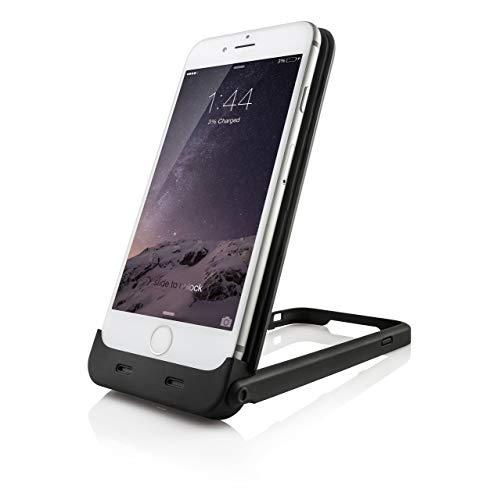 Chromo CI55000356 Charging Protective Case with Desk Stand for iPhone 6S - Black (Apple MFi Certified) (Certified Refurbished)