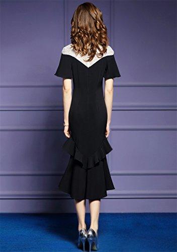 Cotylédons Women`s Robes De Sirène Occasionnels Amincissent Robe Formelle