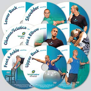 9 Isolation Exercise and Stretch Workout DVDs to Lessen Pain, Increase Strength, Improve Flexibility and Range of Motion from Head to Toe with Aaron Wright (Exercises To Increase Range Of Motion In Shoulder)