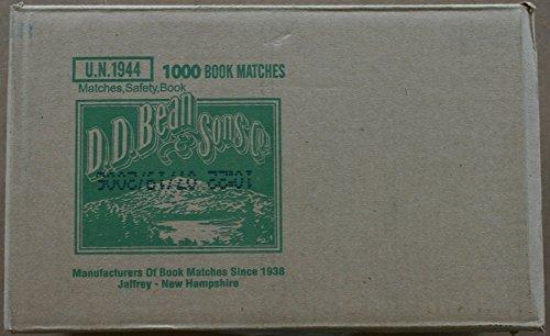 1000 Book Matches D.D. Bean & Sons co.