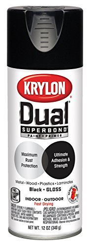 Krylon K08801001 Gloss Black 12 Ounce Aerosol Spray Paint