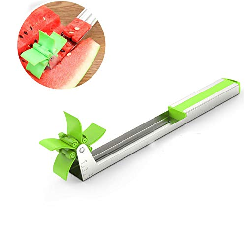 Watermelon Slicer Cutter, Windmill Watermelon Fruit Slicer,GRyiyi Melon Cutter and Watermelon Cutting Tool Cantaloupe Stainless Steel Corer - FDA Approved & BPA Free
