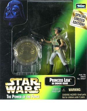 Star Wars: Power of the Force Millenium Coin Edition Princess Leia in Endor Gear Action Figure -