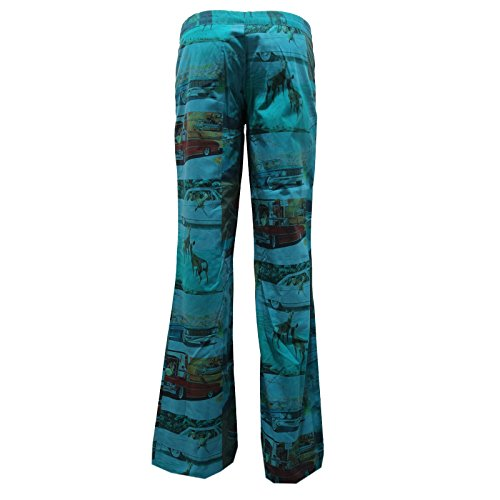 Donna Barcelona 8419u Trouser Pant Pantalone Verde Custo Green Woman 5F664gx