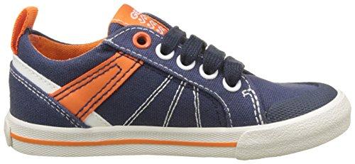 Geox J Kilwi E, Zapatillas Para Niños Azul (Navy/orange)