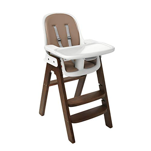 OXO Tot Sprout Chair with Tray Cover, Green and Walnut