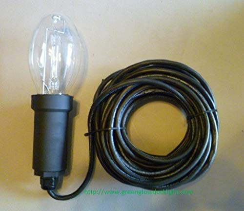 Replacement HID 175 Watt Underwater Lamp w/ 50 Foot Cord. (Fits Many Underwater Fish & Dock Light - 175w Single