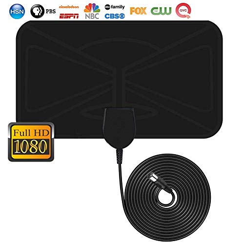 【2019 Latest】 Indoor TV Antenna-Digital HDTV Antennas 50 Mile Range 4K 1080P HD VHF UHF Freeview Local Channels and Programming for All Type of Television