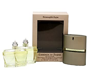 Ermenegildo Zegna Essenza Di Zegna Eau De Toilette Spray Travel Pack for Men, 0.7 Ounce