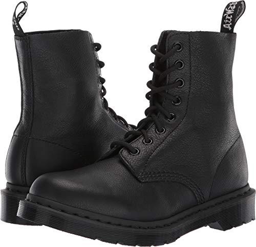 Dr. Martens Women's Pascal Leather Combat Boot (4 M UK, Black Virginia -