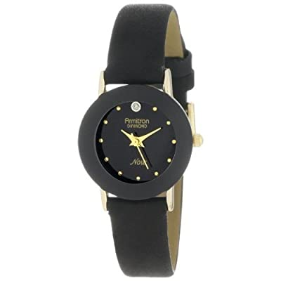 Armitron Women's 75/2447 Diamond-Accented Watch with Leather Band