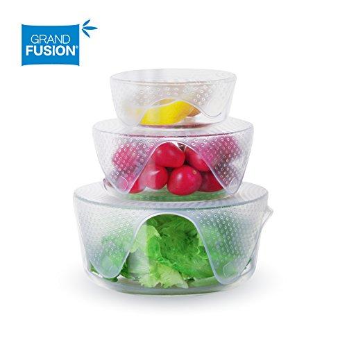 Grand Fusion™ Silicone Food Wrap 4 pk, Reusable Super Flexible, Stretchable (Reusable Wrap)