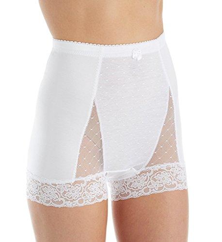 Ahh By Rhonda Shear Women's Plus Size Pin-up Dot Panty, White, 3X