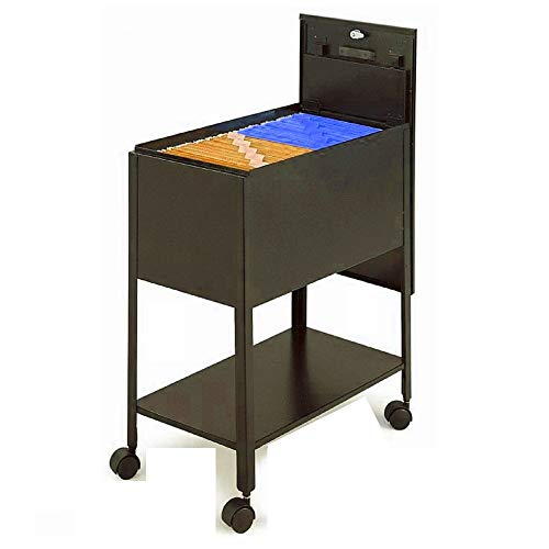 File Rolling Cart with Lid Drawer Wheels Storage Top for sale  Delivered anywhere in USA