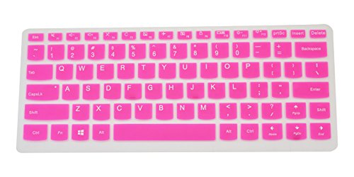 PcProfessional Hot Pink Ultra Thin Silicone Gel Keyboard Cover for Lenovo Yoga 710 14 14