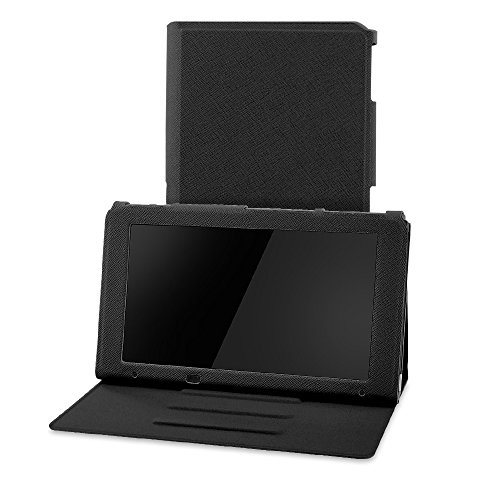 Hestia Goods case for Nintendo Switch, Hestia Goods Premium PU Leather Slim Fit Play Stand Cover for Nintendo Switch, Black