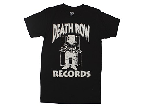 Ripple Junction Death Row Records Adult Unisex White Logo Light Weight 100% Cotton Crew T-Shirt 3XL Black