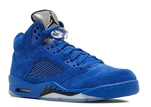 Jordan Men Air 5 Retro blue game royal black Size 14.0 US