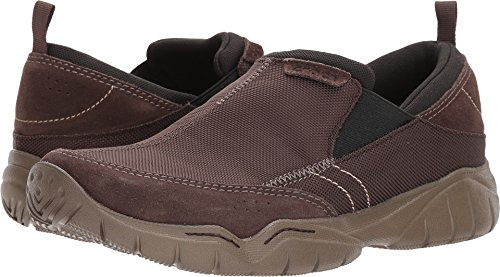 Crocs Men's Swiftwater Edge Moc M Sneaker, Espresso/Walnut, 7 M US