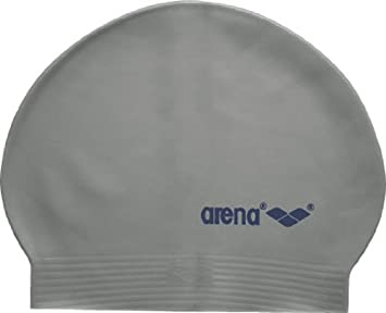 53108f871 arena Soft Latex USA Swim Cap, Silver/Navy