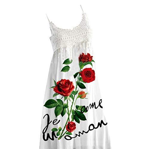 [해외]트로 네트 패션 여름 캐주얼 드레스 여성 빈티지 보헤미안 여름 레이스 민소매 비치 인쇄 원피스 / Tronet Fashion Summer Casual DressesWomen Vintage Boho Summer Lace Sleeveless Beach Printed Dress
