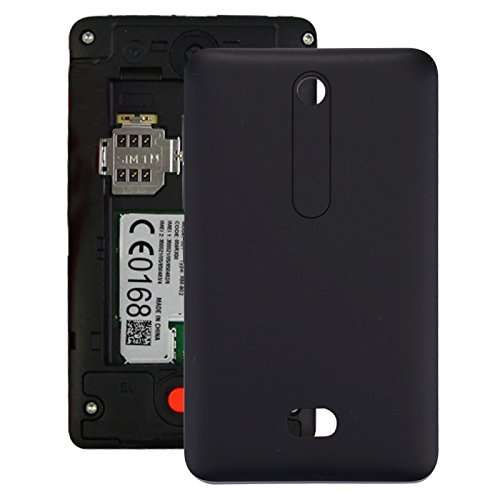 timeless design 7c356 e06a0 Amazon.com: iPartsBuy for Nokia Asha 501 Battery Back Cover (Black ...