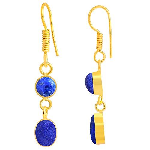 18k Yellow Gold Lapis Ring (Lapis Lazuli 18k Yellow Gold Overlay Earrings)