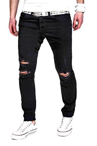 MT Styles Jeans Slim Fit RJ-2007 [Schwarz, W31/L32]