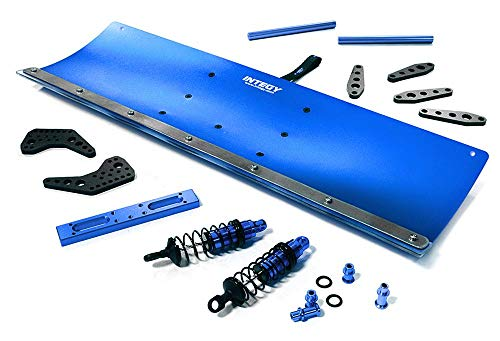 Integy RC Model Hop-ups C28556BLUE Alloy Machined 400mm Snowplow Kit for Traxxas - Conversion Kit Snow