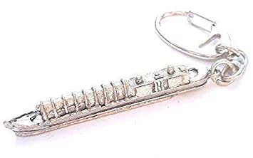 Flute Handcrafted from Solid Pewter In the UK Key Ring