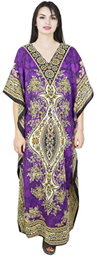 SKAVIJ Vestido - Túnica - para mujer Púrpura