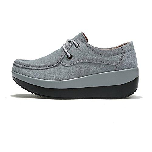 Chaussures HKR Gris Lacets Pour Ville à de Femme 1SqSwT