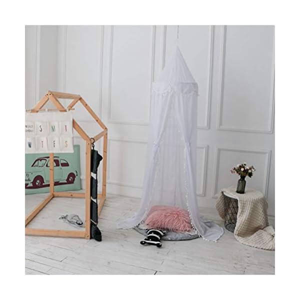 ZXYSR Zanzariera A Baldacchino per Letto, Zanzariera A Tenda Protettiva Letto, Mosquito Net for Bed Canopy per Culla… 3 spesavip