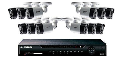 Lorex 16-Channel, 12-Camera Indoor/Outdoor High-Definition DVR Surveillance System White/Black LHV22163TC12