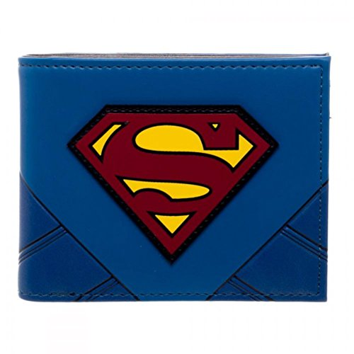 Superman Suit Up PU Bifold - Superman Wallet For Men