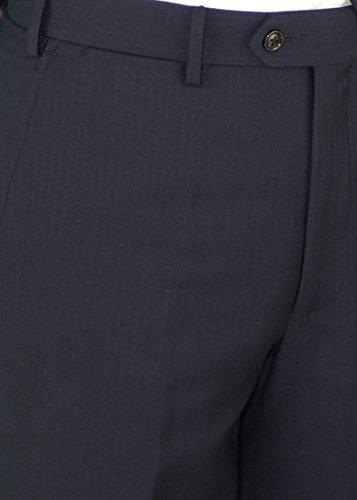 Gino Valentino Men's Two Button Modern Striped Night Navy Suit (38 Regular US / 48 Regular EU) by Gino Valentino (Image #6)