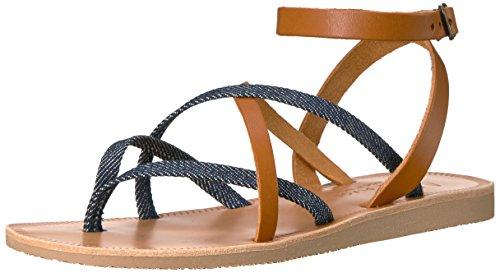 Joie Women's ODA Flat Sandal, Denim-Cuoio, 37 M EU (7 ()